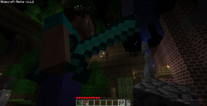 Minecraft , survival night town