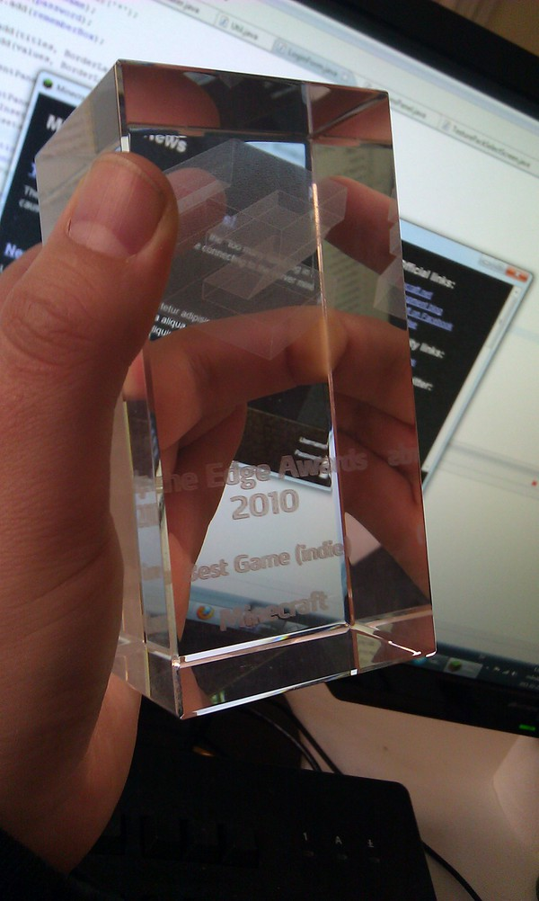 Minecraft's Edge award