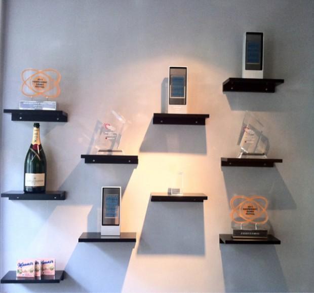 MojangAB's trophy wall