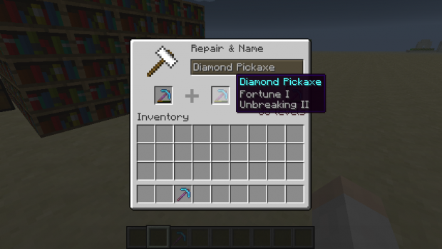 Repairing/Combining enchantments and Tool Naming
