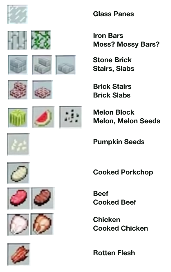 New 1.8 items and blocks