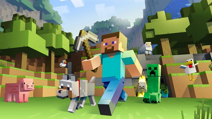 Minecraft key art