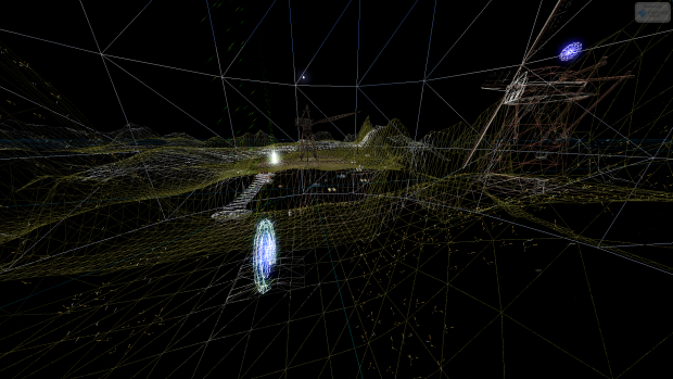 Demo Map - ScreenShot 3 (Wireframe Mode)