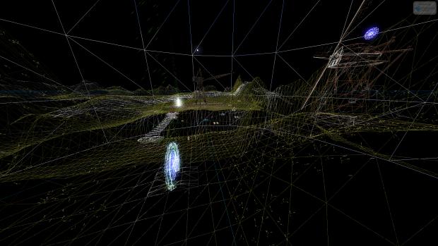 Demo Map - ScreenShot 3 (Wireframe Mode)