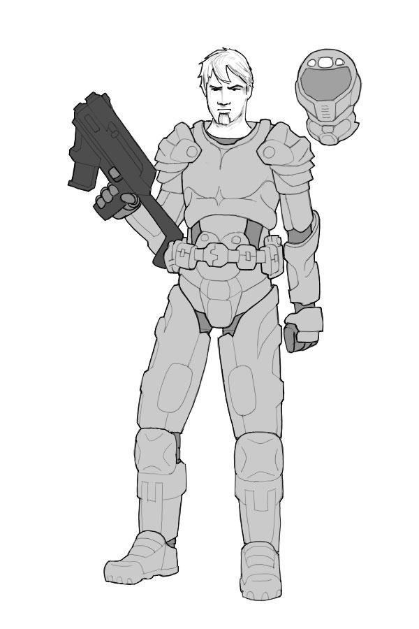 main character   art