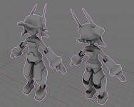 RoboSarah Model, Baked Ambient Occlusion