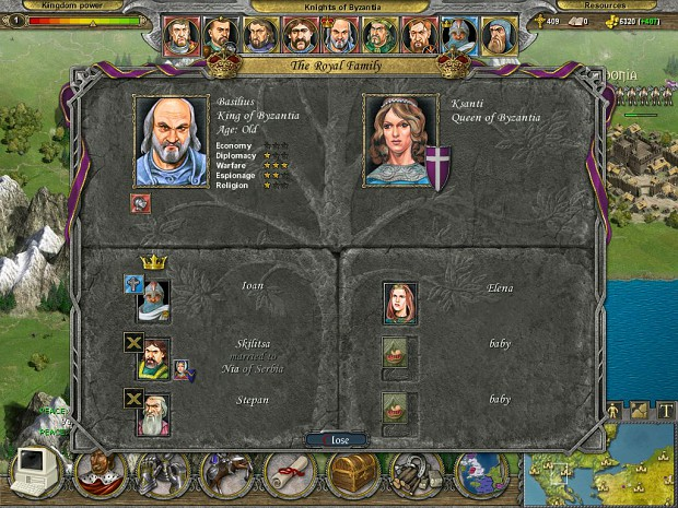 Knights of Honor Screens