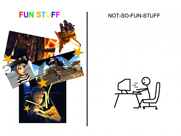 Fun Stuff vs Not-So-Fun Stuff