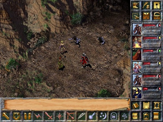 Alpha screenshot of Baldur's Gate