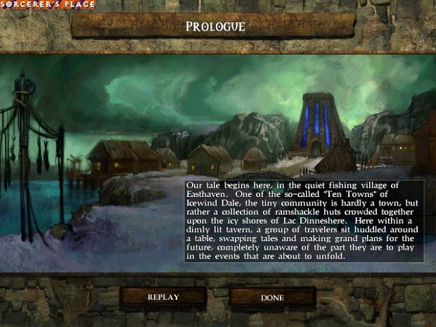 Prologue screen