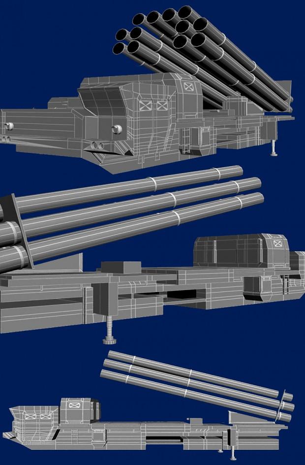 "A WIP Model of Russian MRLS ""Smerch"""