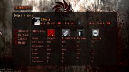 New offense class menu
