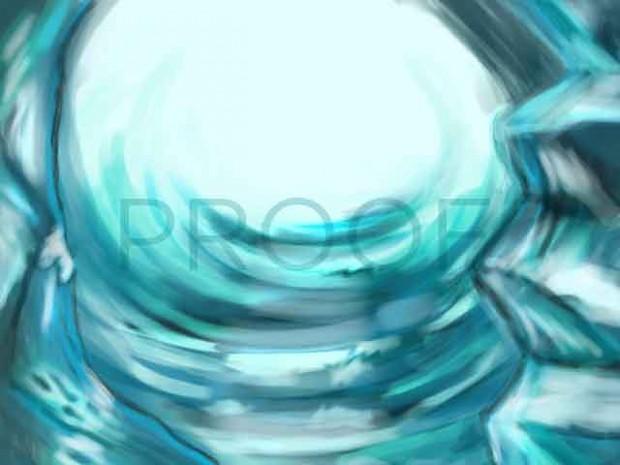 Ice Caves Background Art
