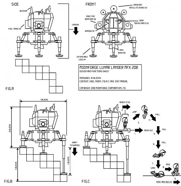 Lunar Lander Design and Functions Sheet