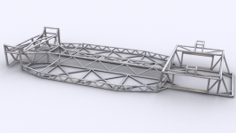 Spaceframe Chassis Render