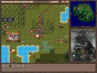 Tactical map: armies disposition