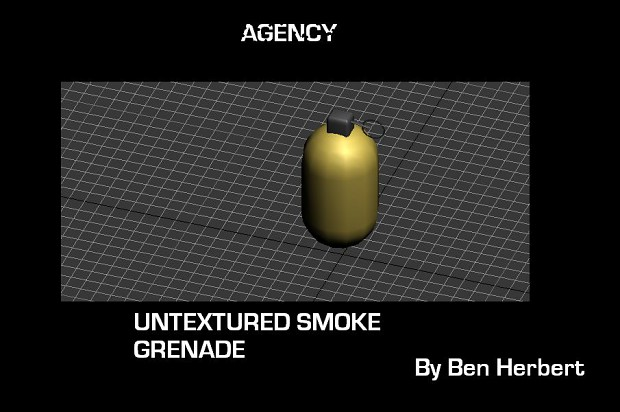 Untextured Smoke Grenade