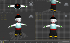 Chiaotzu update-Head textures-by Acaryus