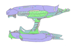 Plasma Rifle Side Drawing.