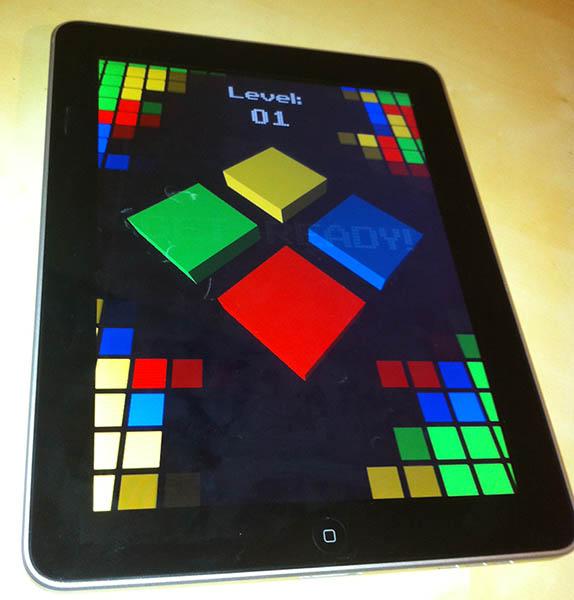 Cubo running on the iPad 2