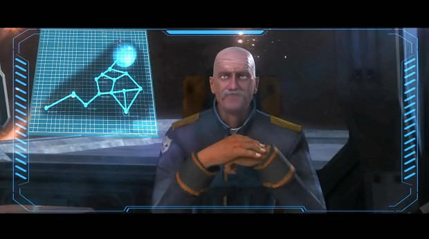 Admiral Ragnar briefing the mission