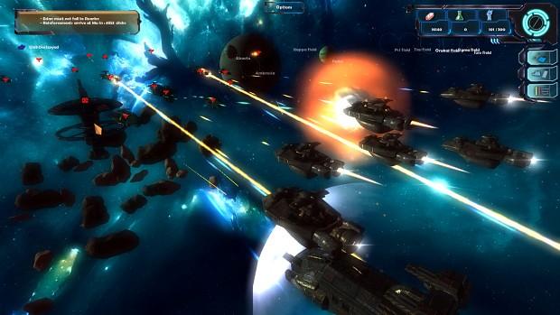 Ships in battle