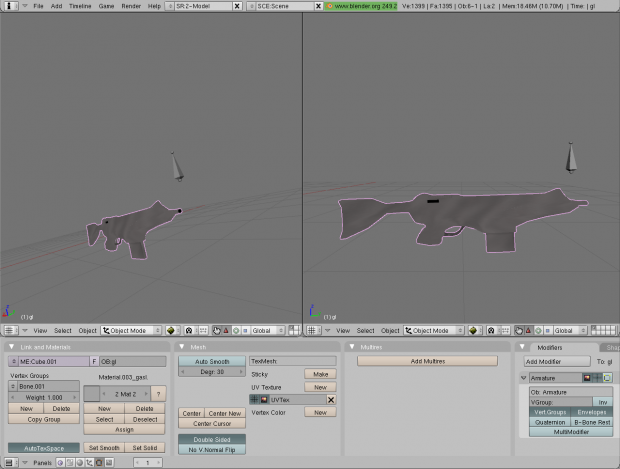 Assault rifle in blender