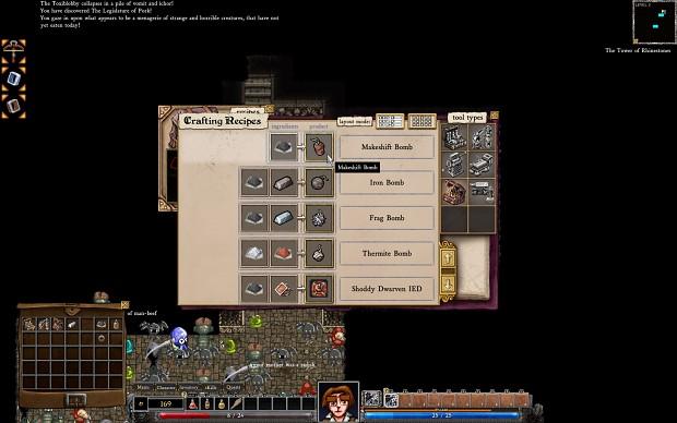 Dungeons of Dredmor beta 0.95 screenshots