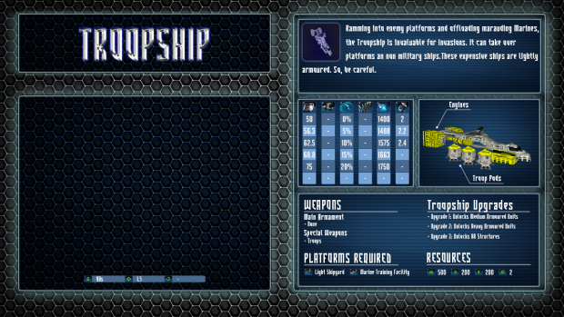 Terran Ship Cards