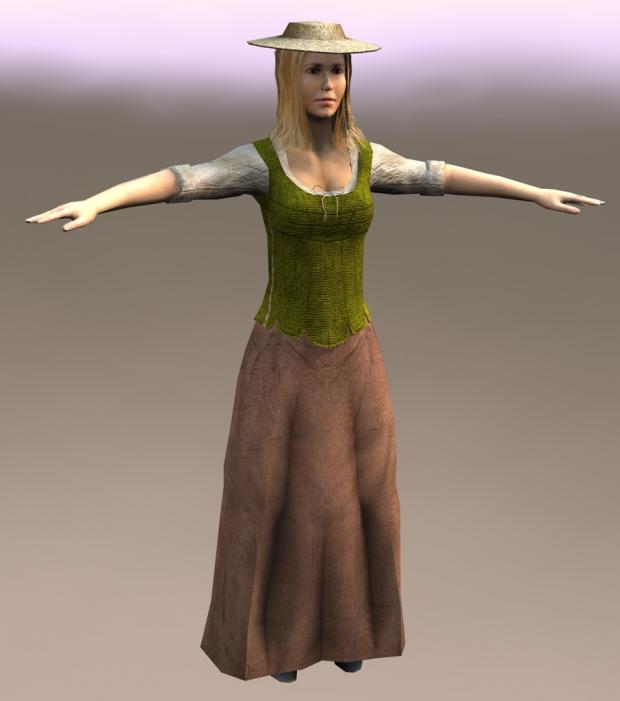 Genii-like woman