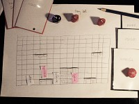 DungeonQuest paper prototype