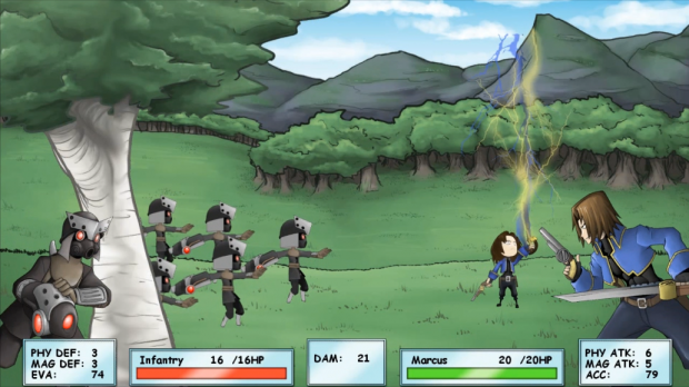Screenshots of New Combat Engine