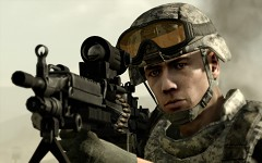 Soldier face closeup