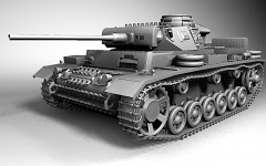 Panzer III Ausf-L Model FrontNaked (WIP)