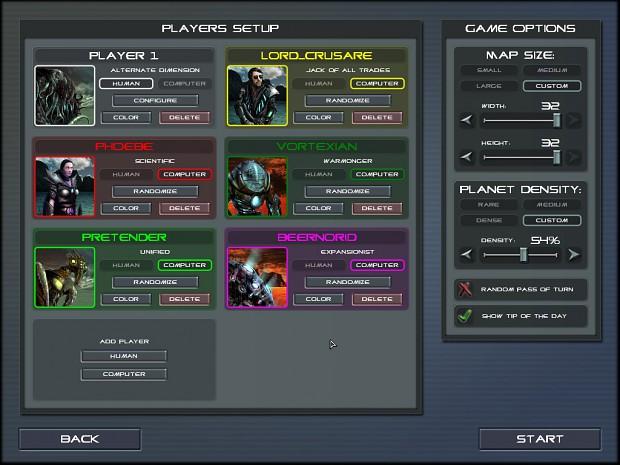 Players setup