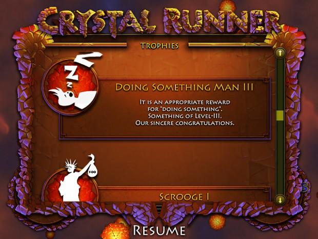 Screens of Crystal Runner