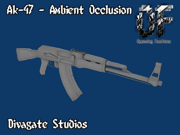 Ak-47 - Ambient Occlusion
