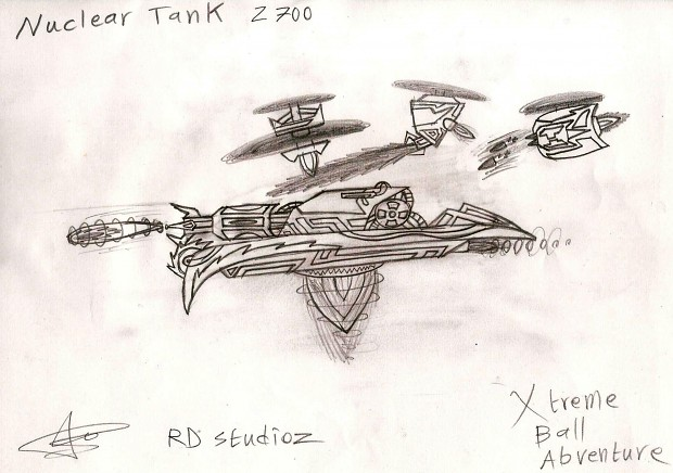 Nuclear Tank Z700 - Initial Concept