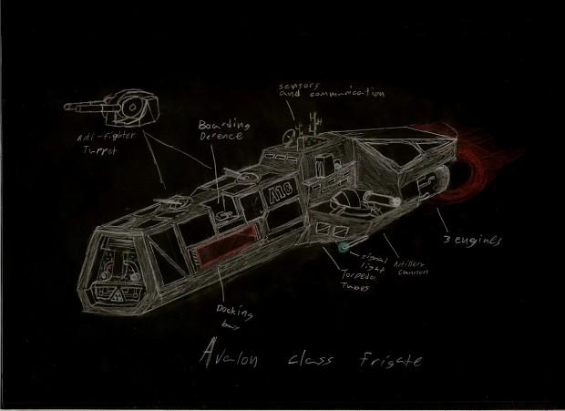 avalon class frigate concept
