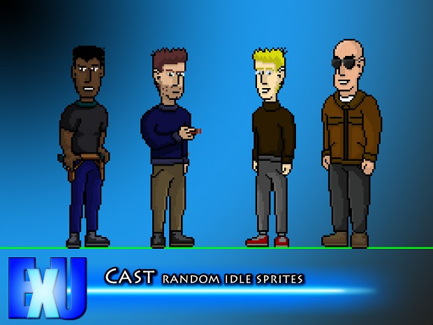 containment Cast: random idle sprites