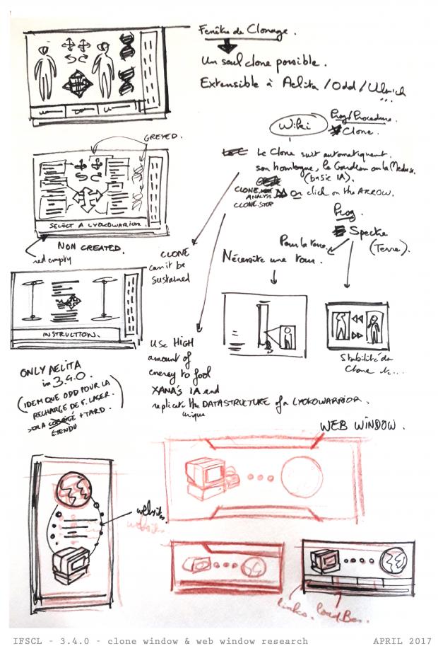 clone window / web window research