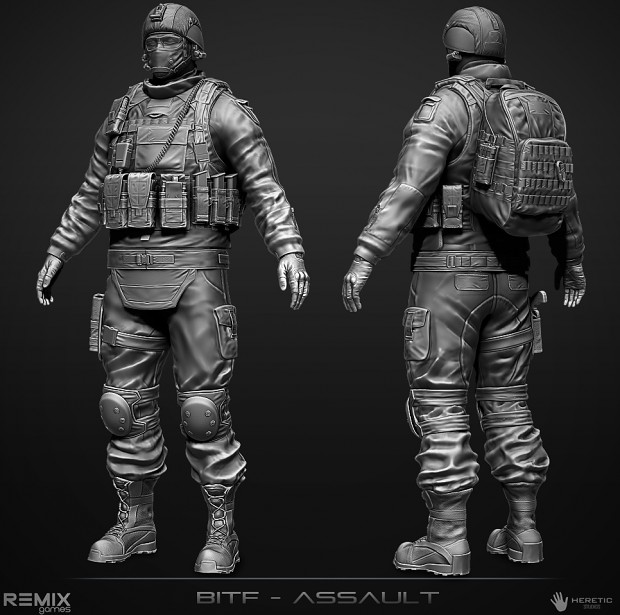 BITF Assault Character (High Poly)
