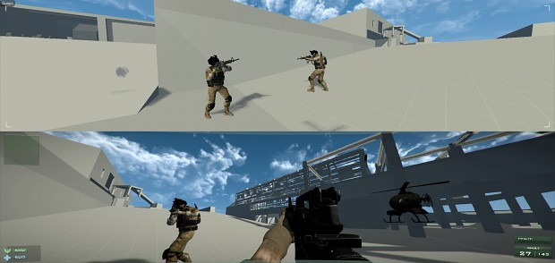 Alpha Project: Line of Fire - Protoype Splitscreen