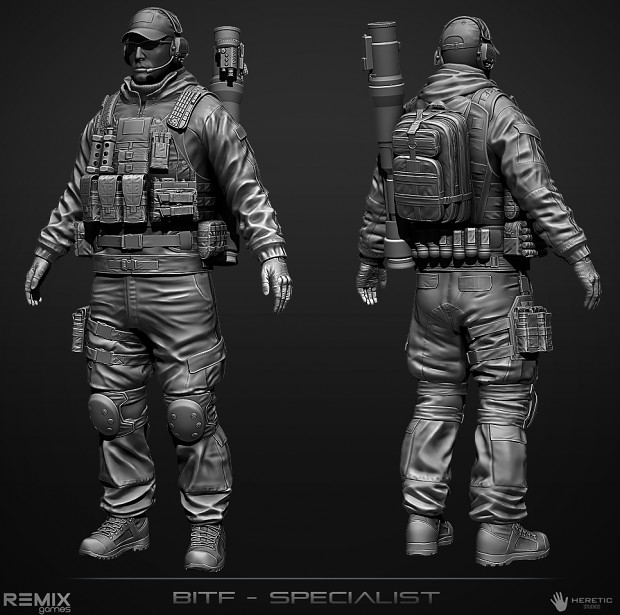 BITF Specialist Character (High Poly)