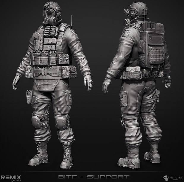 BITF Support Character (High Poly)