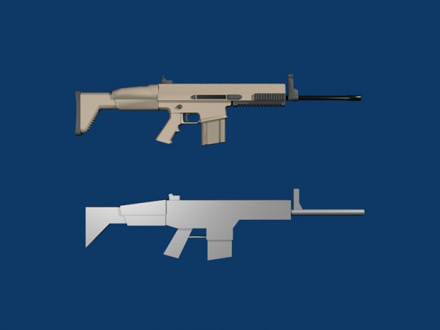 Tier 2 Assault Rifle Model