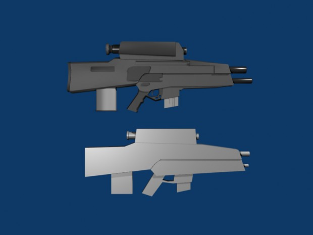 Tier 3 Assault Rifle Model