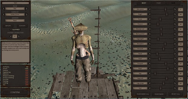 New Character Editor