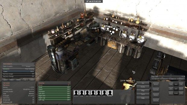 One of the crafting benches