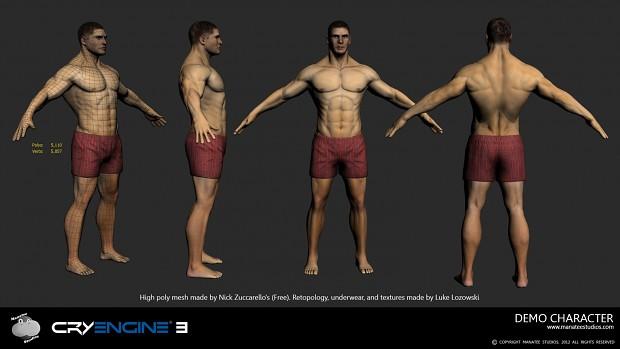 Demo Character for Manatee Studios